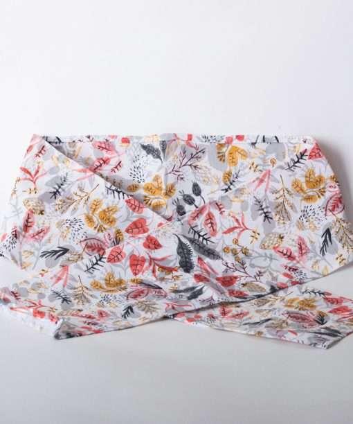 Funda de saco térmico diseño flores natural